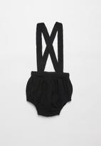 Baby Star - Unisex organic cotton suspenders - jet black