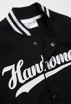 POP CANDY - Boys baseball jacket - black & white