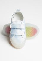 POP CANDY - Girls strap sneaker - blue & white