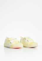 POP CANDY - Girls strap sneaker - yellow & white