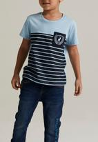 POLO - Oliver striped short sleeve tee - blue