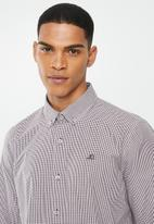 Jonathan D - Casual long sleeve check shirt - brown