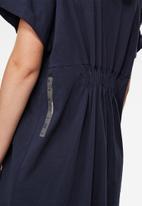 G-Star RAW - New disem turtle loose dress short sleeve - sartho blue