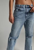 Cotton On - Dad jean - palm blue rip