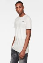 G-Star RAW - One cut and sewn GR short sleeve tee - cool grey