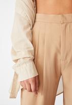 Cotton On - Drapey wide leg pant - tan