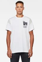 G-Star RAW - C&s back graphic + loose r short sleeve tee - white