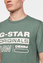 G-Star RAW - Originals wavy logo short sleeve tee - green