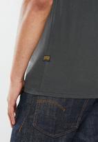 G-Star RAW - Graphic 6 slim r short sleeve tee - charcoal