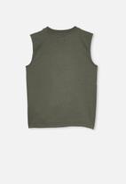 Cotton On - Otis muscle tank - green