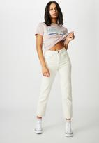 Cotton On - Classic slogan T-shirt - michigan/lilac