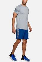 Under Armour - Ua woven wordmark shorts - blue