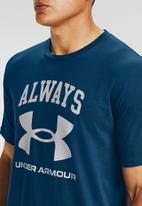 Under Armour - Ua always under armour short sleeve tee - blue