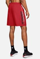Under Armour - Ua woven wordmark shorts - red