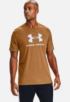 Under Armour - Ua sportstyle logo short sleeve tee - tan