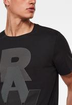 G-Star RAW - Raw graphic r short sleeve tee - black