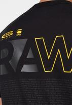 G-Star RAW - Back graphic logo tee - black