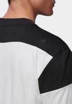 adidas Performance - Zne short sleeve tee - white & black