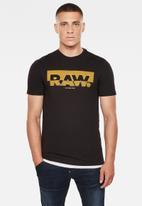 G-Star RAW - Raw graphic slim r short sleeve tee - black