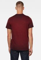 G-Star RAW - Double dye logo + r short sleeve tee - burgundy