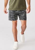 Cotton On - Kahuna short - grey / black leopard