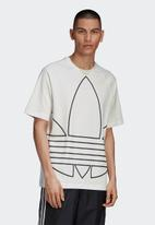 adidas Originals - Big trefoil out short sleeve tee - white & black