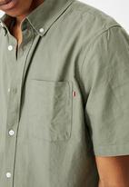 Cotton On - Vintage prep short sleeve shirt - sage
