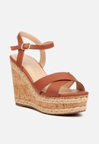 Miss Black - Dioxy wedge - tan