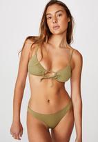Cotton On - Key hole bralette bikini top - khaki rib