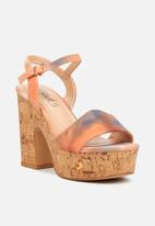 Miss Black - Kabelo heel - orange