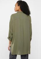 ONLY - Alexandra life 3/4 shirt wvn - khaki