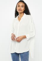 ONLY - Alexandra life 3/4 shirt wvn - neutral