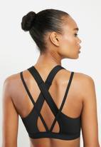 PUMA - Studio lace strappy bra - black