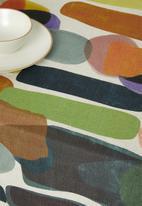 Hertex Fabrics - Mankind table cloth - soil