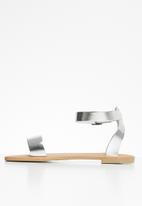 Superbalist - Stace ankle strap sandal - silver