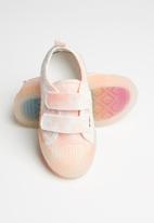 POP CANDY - Girls strap sneaker - pink & white