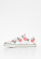 POP CANDY - Girls pineapple print sneaker - white & red