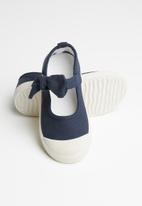 POP CANDY - Girls bow slip on shoe - navy