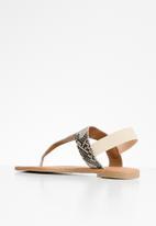 Superbalist - Londdi t-bar sandal - black & neutral