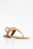 Superbalist - Londdi t-bar sandal - neutral