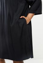 JUNAROSE - Manne 3/4 sleeve above knee dress - black