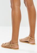 Superbalist - Orie leather ankle strap sandal - natural