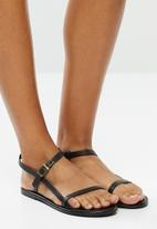 Superbalist - Orie leather ankle strap sandal - black