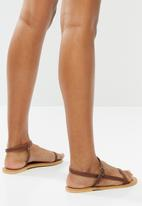 Superbalist - Orie leather ankle strap sandal - brown