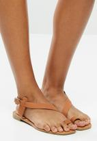 Superbalist - Dori leather ankle strap sandal - tan