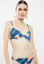 Sun Love - Underwire soft cup bra c-cup - blue & peach