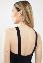 Seafolly - Active high neck maillot - black