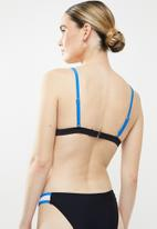 Glamorous - Ladies bikini top - black & blue
