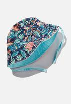 Cotton On - Reversible bucket hat - dream blue floral