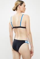Glamorous - Ladies bikini bottom - black & blue